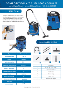 Air conditioning AC 3000 - accessories special professional steam cleaner