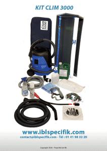 Machine vapeur professionnel spécial Climatisation | Kit Clim 3000 Accessoires