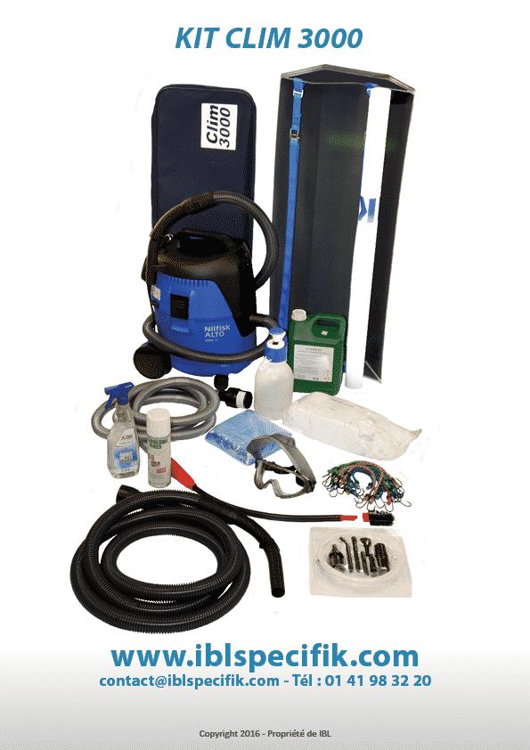 Nettoyage et Désinfection de Climatisation   Kit Clim 3000 Accessoires