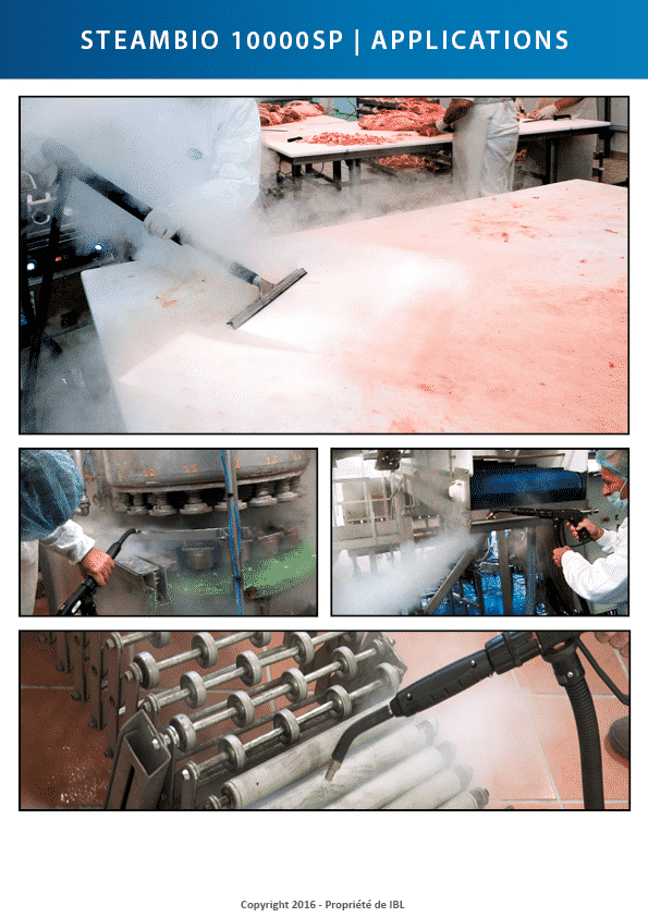 nettoyage vapeur applications